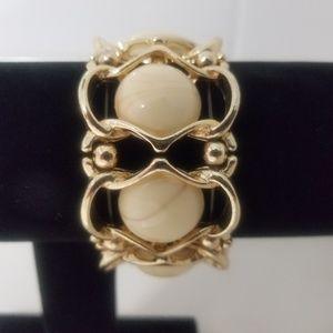 Versona Gold and Cream Bracelet